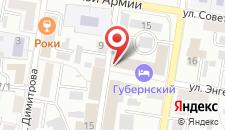 Хостел На Октябрьской на карте
