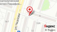 Апартаменты на улице Чкалова на карте