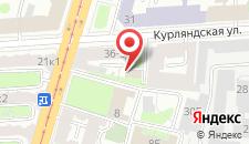 Хостел Глобус на Курляндской на карте