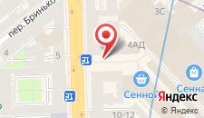 Гостиница Аллегро на Московском на карте