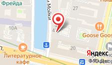 Гостиница У эрмитажа на карте