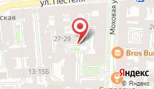 Арт-отель Моховая на карте