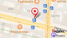 Отель Невский 74 на карте