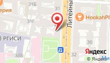Отель Альтбург на Литейном на карте