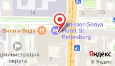 Отель Рэдиссон Соня на карте