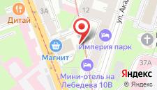Отель SuperHostel на Лебедева 10 на карте