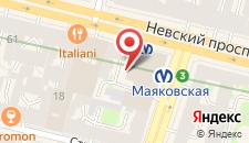 Гостиница Невский Форум на карте