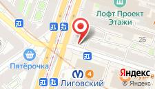 Гостиница Samsonov Hotel on Ligovsky 84 на карте