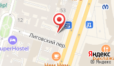 Мини-отель Абажур на Лиговке на карте