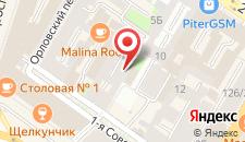 Отель на Советской на карте