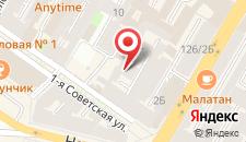 Отель A Liva на Советской на карте