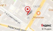 Отель Невский 126 на карте
