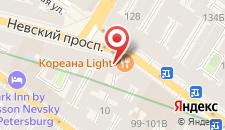 Отель Демократ на Невском 95 на карте