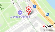Отель Обухофф на карте