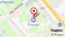 Гостиница Елизар-Отель на карте