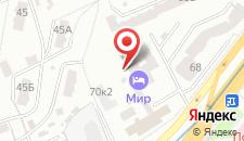 Отель Мир на карте