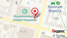 Мини-отель В центре Киева на карте