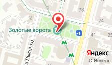 Апартаменты Золотые ворота на карте