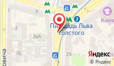 Апартаменты Дикат на Льва Толстого на карте