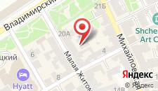 Апартаменты на Малой Житомирской 20 на карте