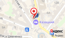 Отель Казацкий на карте