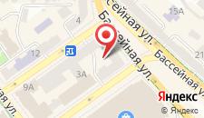 Апартаменты на улице Бассейная на карте