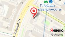 Апартаменты Apartment on Khreschatik 13 на карте