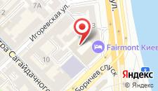 Отель Fairmont Grand Hotel Kyiv на карте