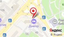 Отель Днипро на карте
