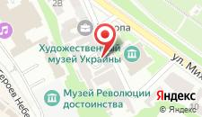 Апартаменты Kiev Accommodation на Музейном переулке на карте