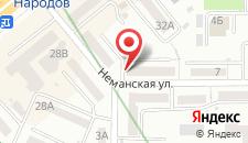 Апартаменты Apartment on Nimanska 5 на карте
