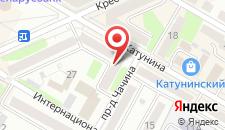 Апартаменты Impreza на Катунина 7 на карте