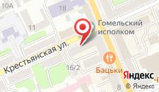 Отель Сож на карте