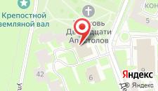 Гостиница Новгородская на карте