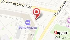 Отель Беломорье на карте