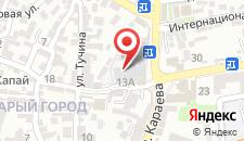 Гостиница Джеваль на карте