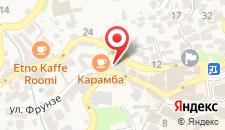 Отель Алупка на карте