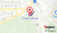 Гостиница Спортивная на карте