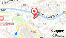 Отель Каштановый на карте