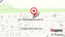 Гостиница Апартаменты на Македонского на карте