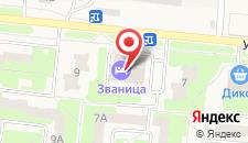 Отель Званица на карте