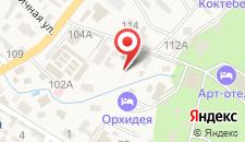 Арт-отель Koktebel apartments на карте