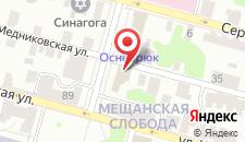 Отель Оснабрюк на карте