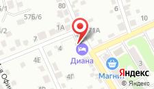 Отель Диана на карте