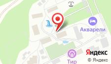 Пансионат Акварели на карте
