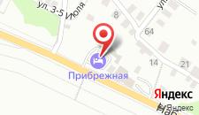 Гостиница Прибрежная на карте