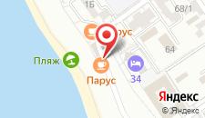 Гостиница Белый парус на карте