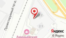 Отель Аминьевские бани на карте