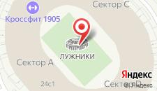 Гостиница Лужники на карте