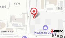 Гостиница Экспотель на карте